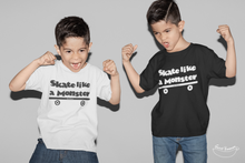 "Carregar imagem no visualizador da galeria, ""Skate like a Monster"" Kids T-Shirt 100% Organic Cotton - Sweet Banana Riders"