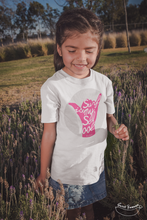"Load image into Gallery viewer, ""Surf is my School"" Girl T-Shirt 100% Organic Cotton - Sweet Banana Riders"