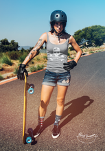 "Charger l'image dans la galerie, ""Skater from Hell"" Woman Tank Top 100% Organic Cotton - Sweet Banana Riders"