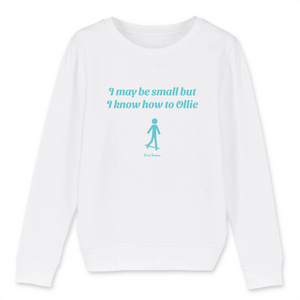 """I may be small"" Boy Sweatshirt Organic Cotton & Recycled Polyester - Sweet Banana Riders"
