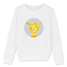 "Charger l'image dans la galerie, ""Surf is my School"" Boy Sweatshirt Organic Cotton & Recycled Polyester - Sweet Banana Riders"