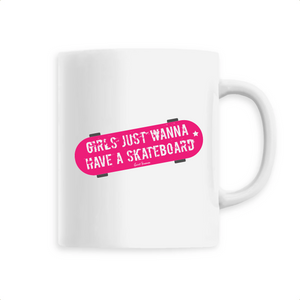 """Girls just wanna have a Skate"" Mug - Sweet Banana Riders"