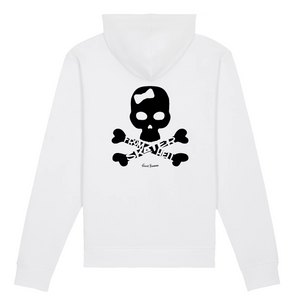 """Skater from Hell"" Woman Sweatshirt Organic Cotton & Recycled Polyester - Sweet Banana Riders"