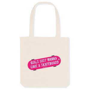 """Girls just wanna"" Tote Bag in recycled Cotton and Polyester (GOTS label) - Sweet Banana Riders"