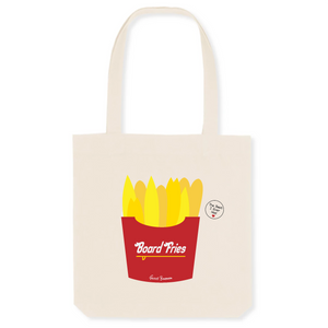"""Board Fries"" Tote Bag in recycled Cotton and Polyester (GOTS label) - Sweet Banana Riders"