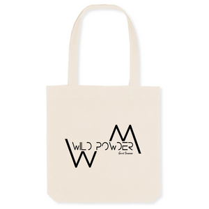 """Wild Powder"" Tote Bag in recycled Cotton and Polyester (GOTS label) - Sweet Banana Riders"