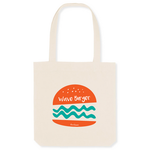"""Wave Burger"" Tote Bag in recycled Cotton and Polyester (GOTS label) - Sweet Banana Riders"