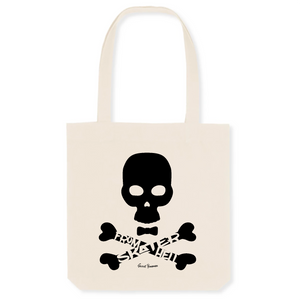"""Skater from Hell"" Tote Bag in recycled Cotton and Polyester (GOTS label) - Sweet Banana Riders"