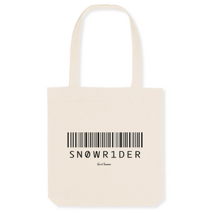 """Sn0wr1der"" Tote Bag in recycled Cotton and Polyester (GOTS label) - Sweet Banana Riders"