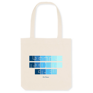 """Little Riders Crew"" Tote Bag in recycled Cotton and Polyester (GOTS label) - Sweet Banana Riders"