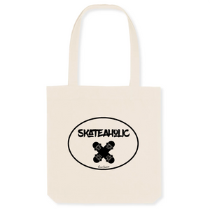 """Skateaholic"" Tote Bag in recycled Cotton and Polyester (GOTS label) - Sweet Banana Riders"