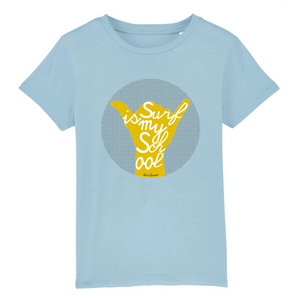 """Surf is my School"" Boy T-Shirt 100% Organic Cotton - Sweet Banana Riders"