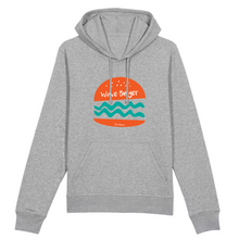 "Charger l'image dans la galerie, ""Wave Burger"" Man Sweatshirt Organic Cotton & Recycled Polyester - Sweet Banana Riders"