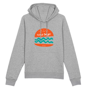 """Wave Burger"" Man Sweatshirt Organic Cotton & Recycled Polyester - Sweet Banana Riders"