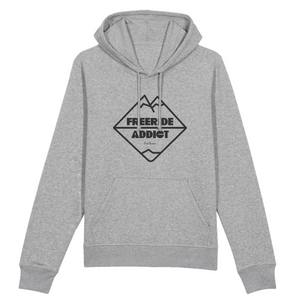 """Freeride Addict"" Man Sweatshirt Organic Cotton & Recycled Polyester - Sweet Banana Riders"