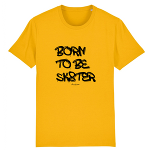 """Born to be sk8ter"" Man T-Shirt 100% Organic Cotton - Sweet Banana Riders"