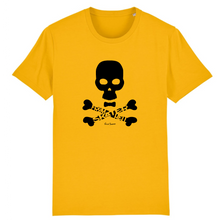 "Load image into Gallery viewer, ""Skater from hell"" Man T-Shirt 100% Organic Cotton - Sweet Banana Riders"