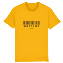 "Load image into Gallery viewer, ""Sn0wr1der"" Man T-Shirt 100% Organic Cotton - Sweet Banana Riders"