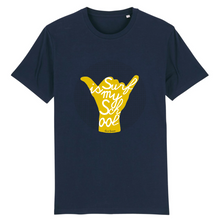 "Load image into Gallery viewer, ""Surf is my School"" Man T-Shirt 100% Organic Cotton - Sweet Banana Riders"