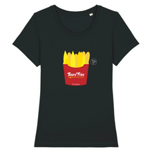 "Load image into Gallery viewer, ""Board Fries"" B Woman T-Shirt 100% Organic Cotton - Sweet Banana Riders"