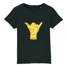 "Charger l'image dans la galerie, ""Surf is my School"" Boy T-Shirt 100% Organic Cotton - Sweet Banana Riders"