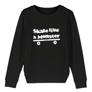 """Skate like a Monster"" W Kids Sweatshirt Organic Cotton & Recycled Polyester - Sweet Banana Riders"