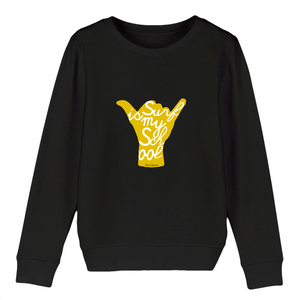 """Surf is my School"" Boy Sweatshirt Organic Cotton & Recycled Polyester - Sweet Banana Riders"
