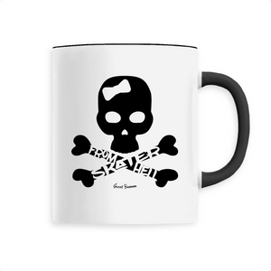 """Skater from Hell"" Woman Mug - Sweet Banana Riders"