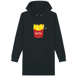 """Board fries"" Hoodie Dress Organic Cotton & Recycled Polyester - Sweet Banana Riders"