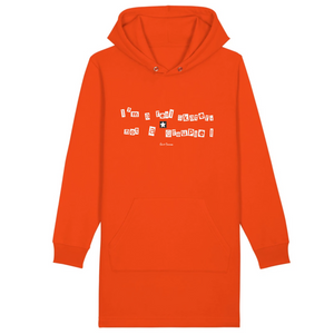 """I'm a real Skater"" Hoodie Dress Organic Cotton & Recycled Polyester - Sweet Banana Riders"