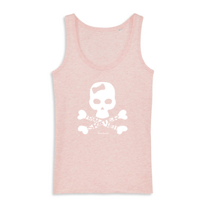 """Skater from Hell"" Woman Tank Top 100% Organic Cotton - Sweet Banana Riders"