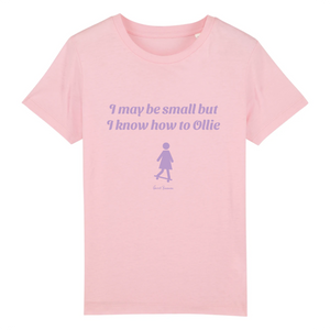 """I may be small"" Girl T-Shirt 100% Organic Cotton - Sweet Banana Riders"