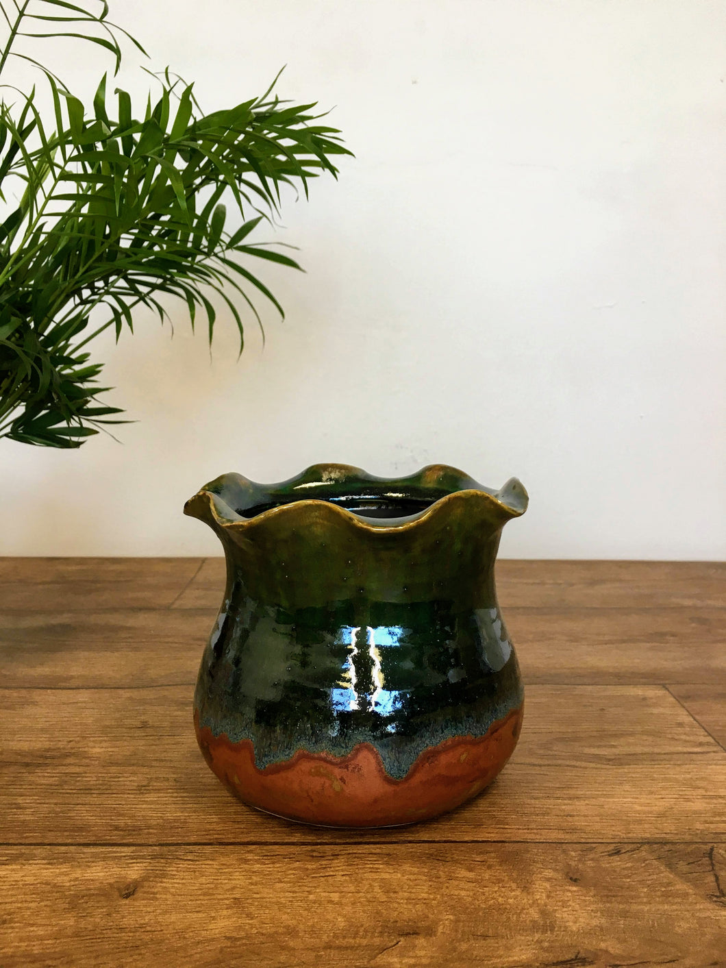 Wave Plant Pot - Teal
