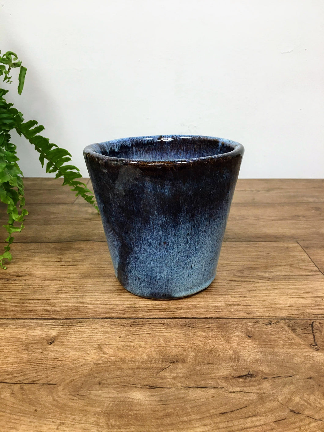Glazed Pot - blue