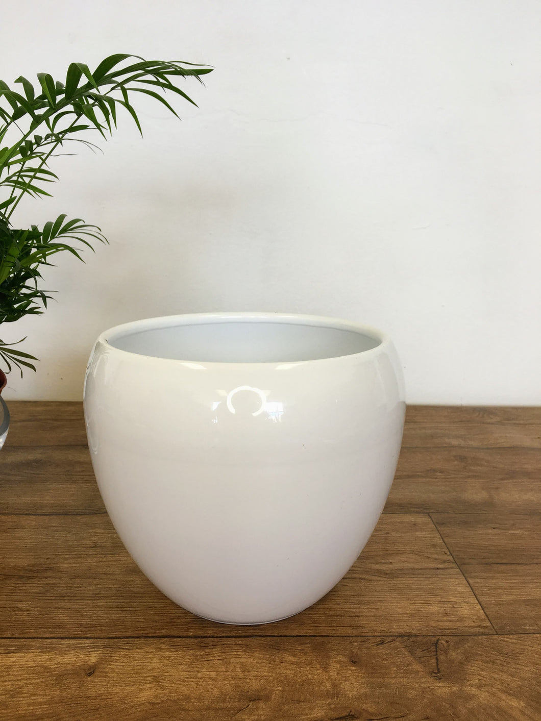 Curved edge Plant Pot - White