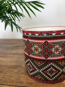 Patterned Plant pot - Red
