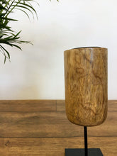 Load image into Gallery viewer, Mango Wood Tealight Holder