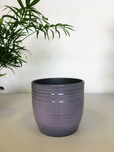 Ribbed Plant Pot - Lilac