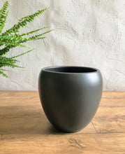 Load image into Gallery viewer, Curved Edge Plant Pot - Black