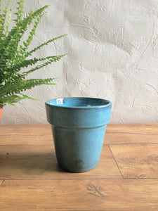 Glazed Earthenware Pot - Blue