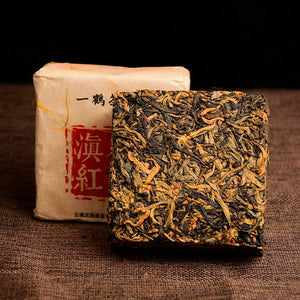 2019 / 2020 Year  Ancient Old Tree Yunnan Dian Hong Golden Buds Dianhong Brick Black Tea 250g