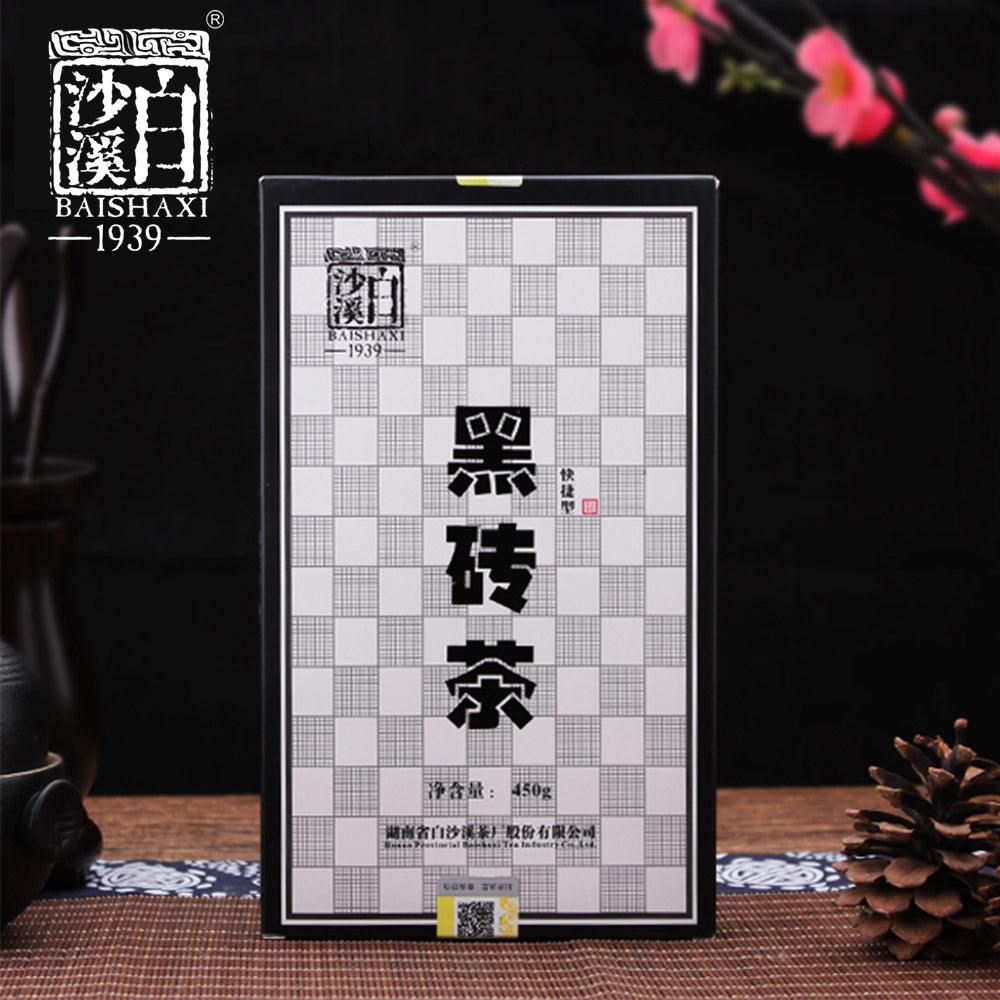 Anhua Baishaxi Instant Dark Tea Shortcut Brick Tea 450g