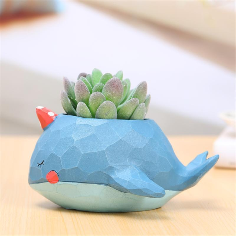Cute Cartoon Resin Flower Pots