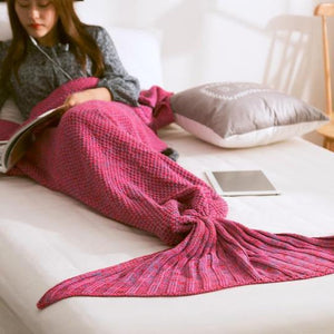 Mermaid Tail Knitted Blanket