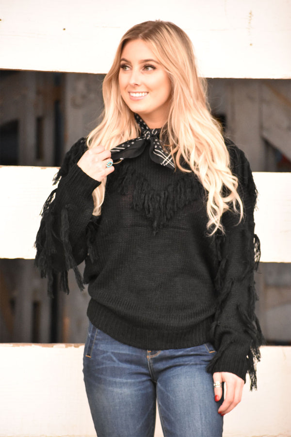 The Bandera Fringe Sweater