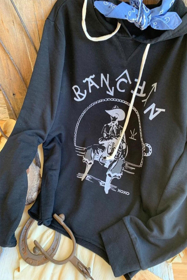 Just Ranchin' Hoodie Black