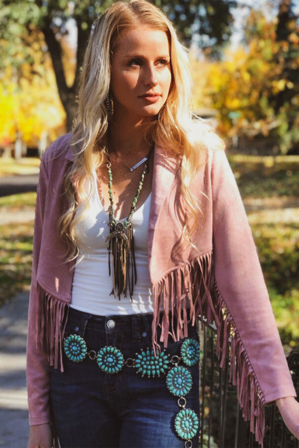 The Blush Fringe Jacket