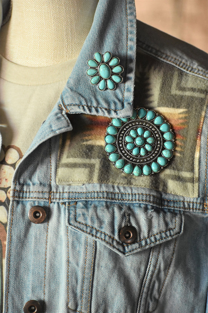 Faux Turquoise Pins