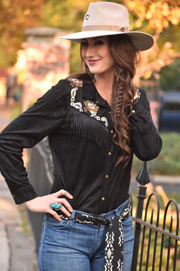 Fierce Fringe Button Up