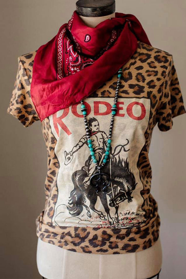 Leopard Buck Rodeo Tee